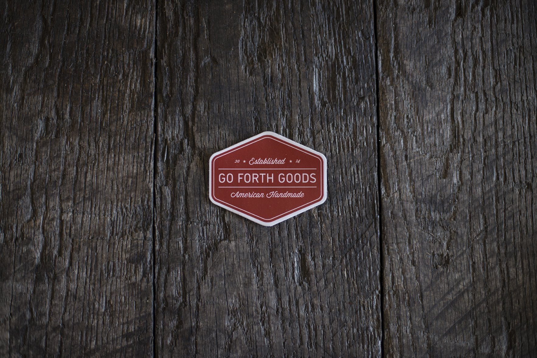 TRADITIONAL RED LOGO STICKER