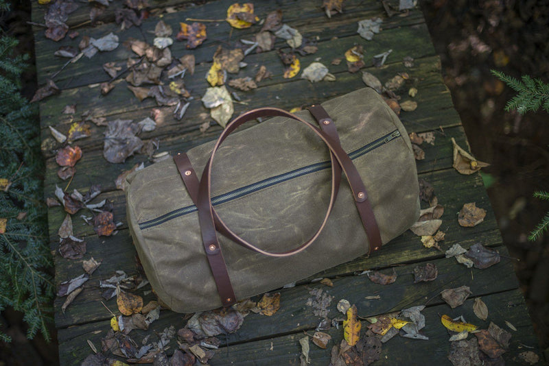 WILLIAM WAXED CANVAS WEEKENDER DUFFLE BAG