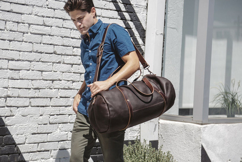 WILLIAM LEATHER DUFFLE BAG