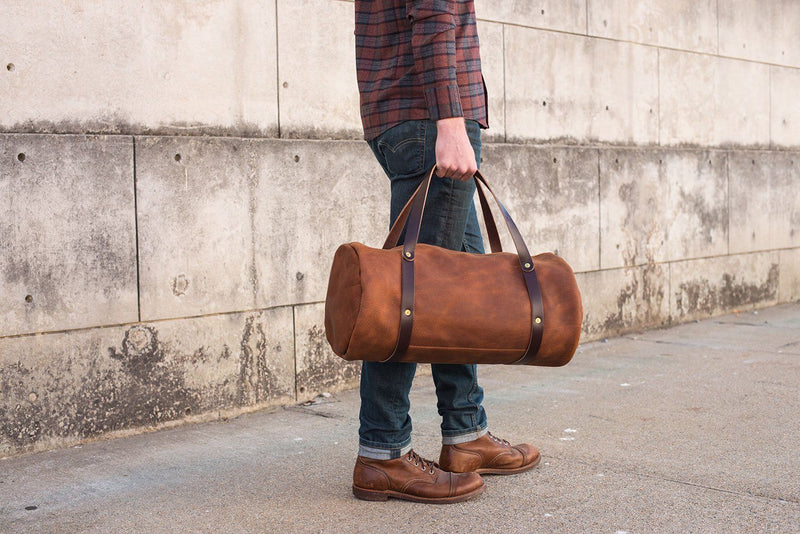 WILLIAM LEATHER WEEKENDER DUFFLE BAG