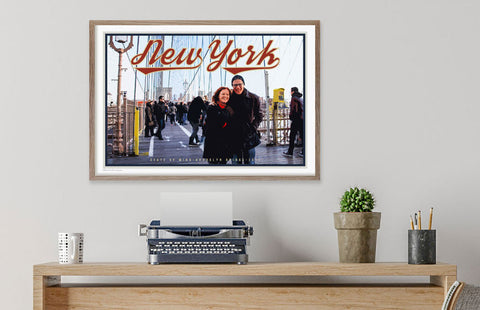New York framed poster by Places We Luv Sydney