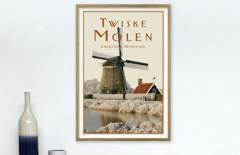 Placeswe luv art print Twiske molen