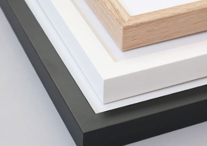 Places we Luv quality framing in a choice of white, black and raw wood.
