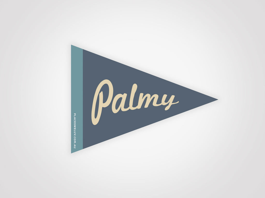 Palm Beach vintage travel style flag decal by places we luv