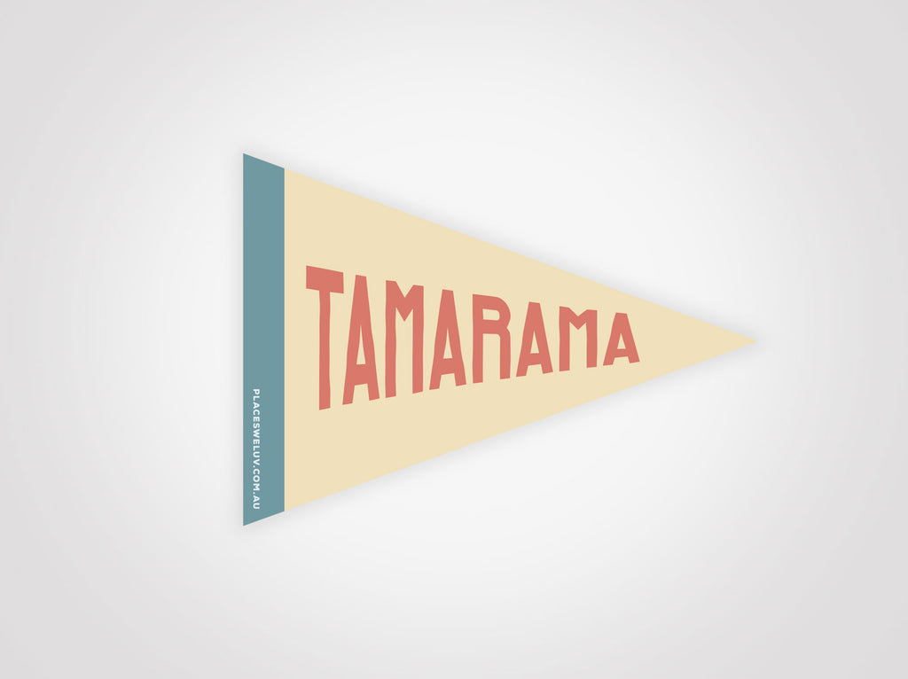Tamarama vintage style travel flag decal by places we luv