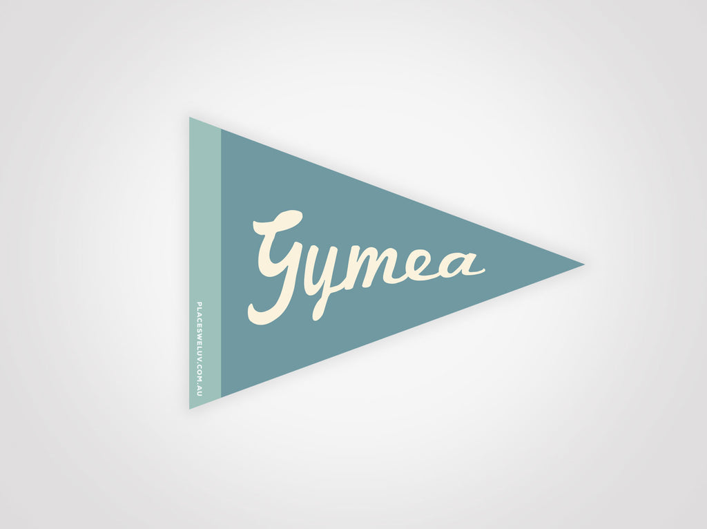 Gymea vintage travel flag decals by places we luv