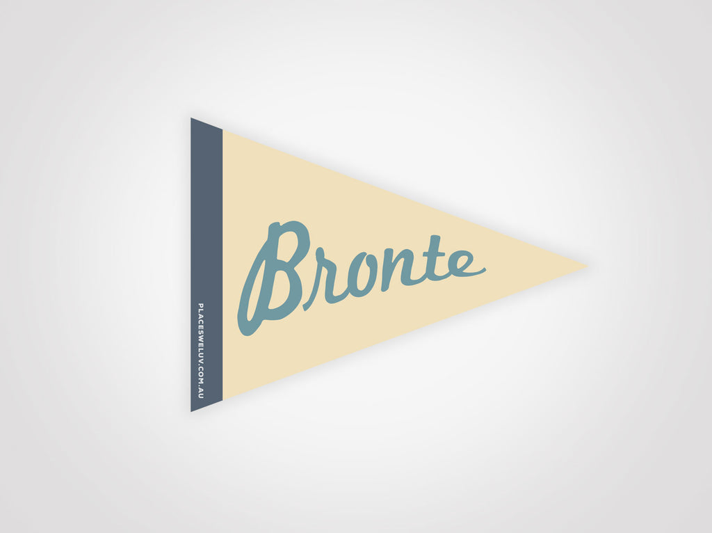 Bronte retro vintage travel decal by places we luv