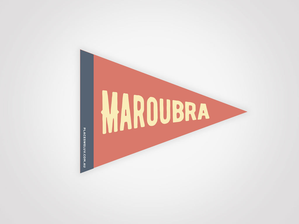 Maroubra retro travel decal by places we luv