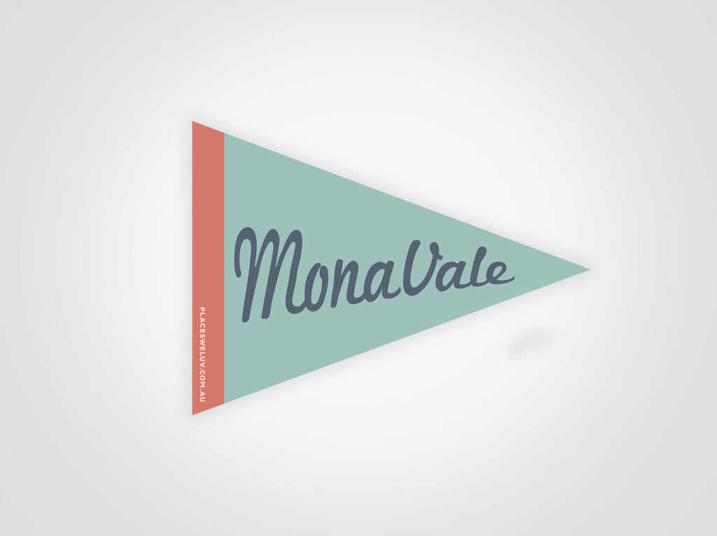 Monavale vintage travel style flag decals by places we luv