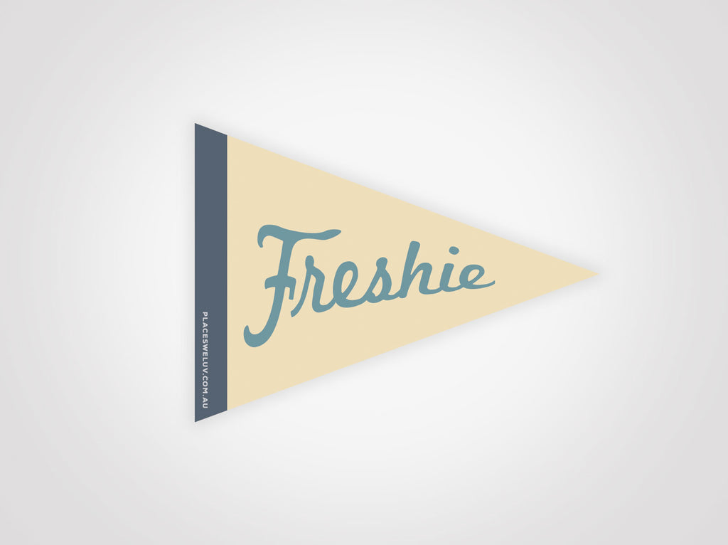 Freshwater beach vintage travel style flag decals by places we luv