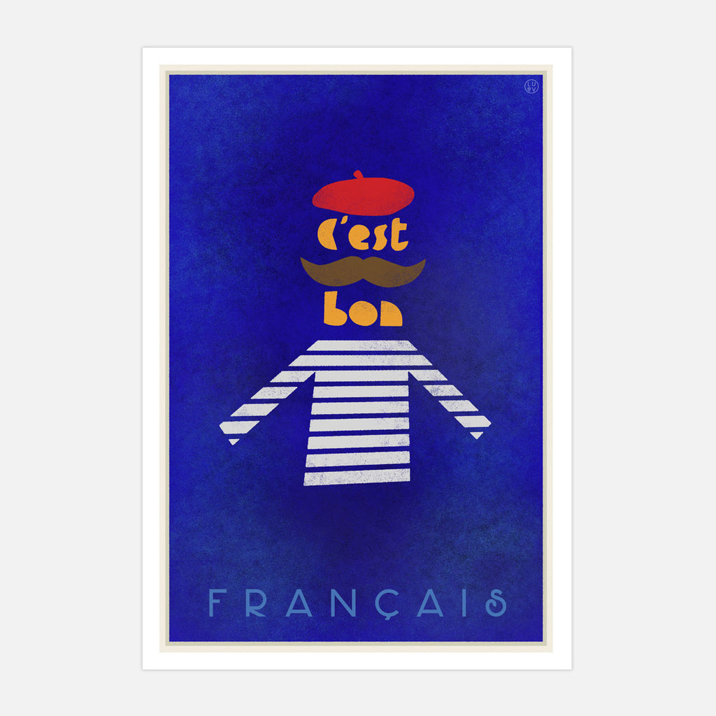 French Vintage style Travel Poster by Places we luv