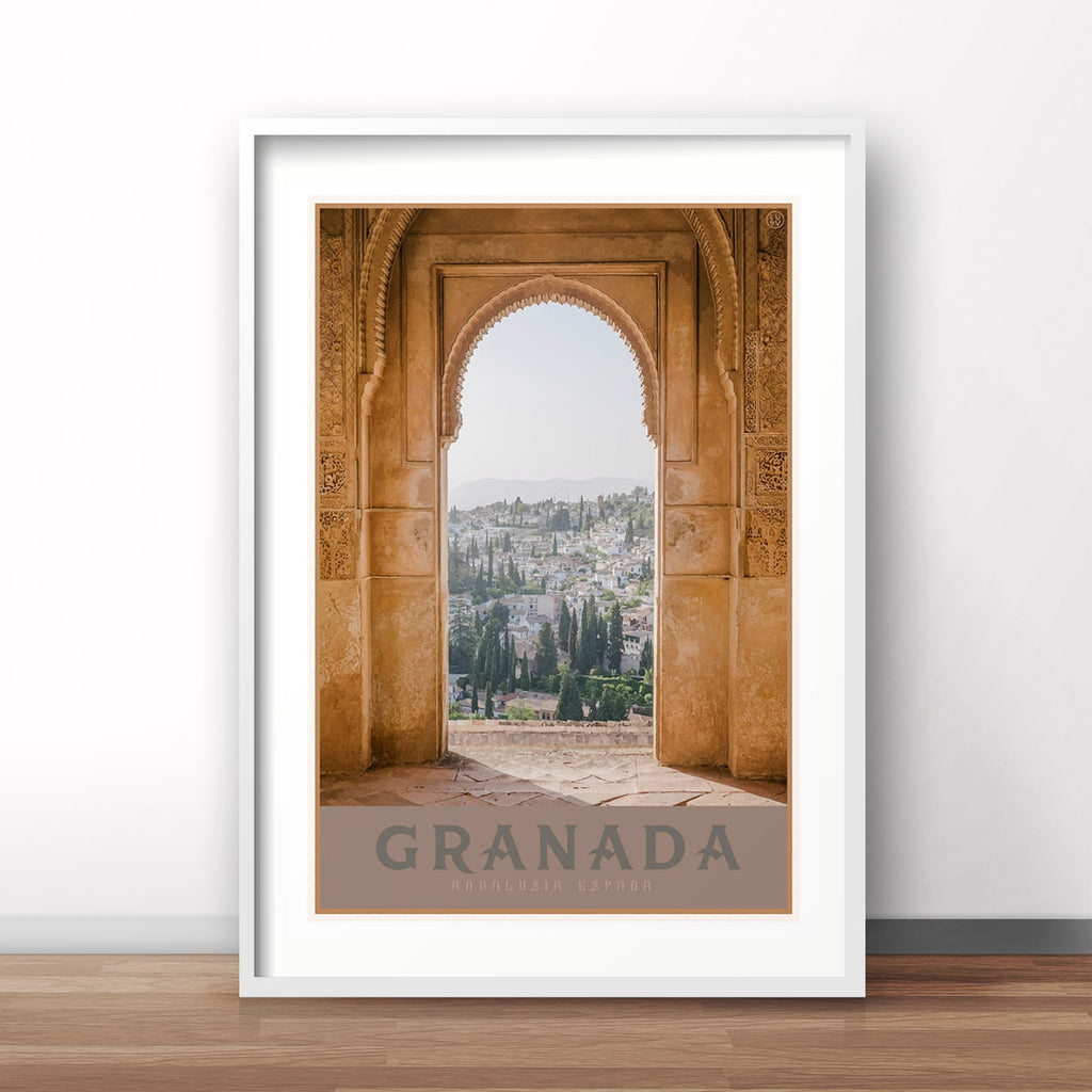 Travel poster Granada Spain by places we luv