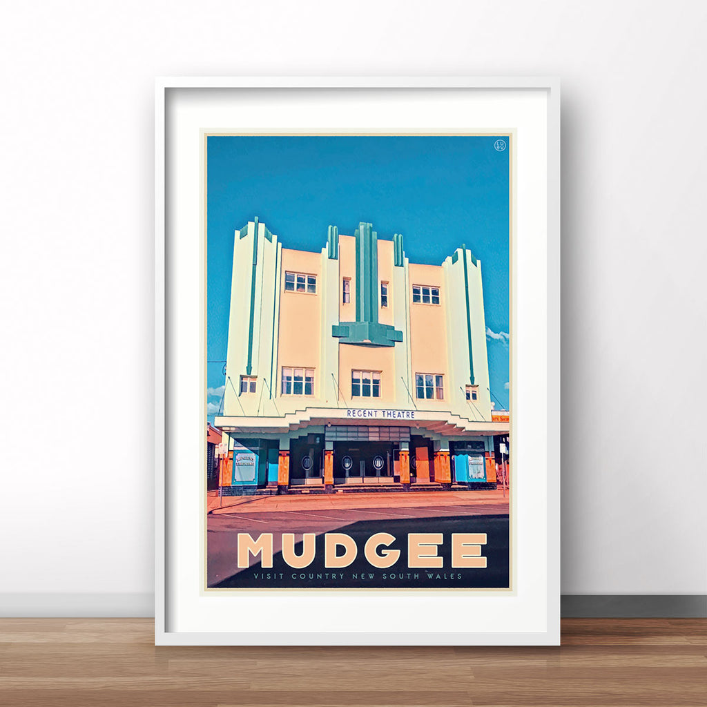 Mudgee vintage travel poster central west by places we luv