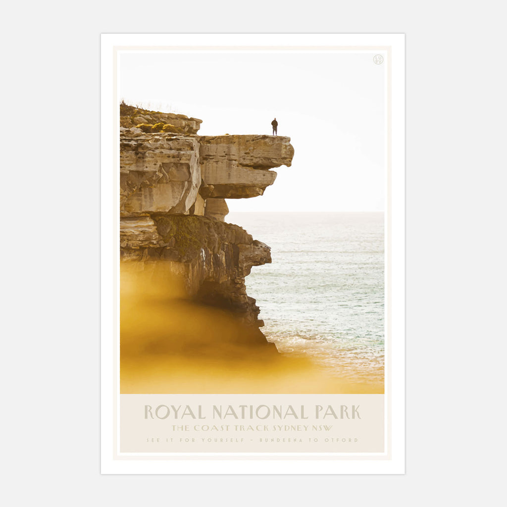 Royal National Park vintage travel style poster places we luv
