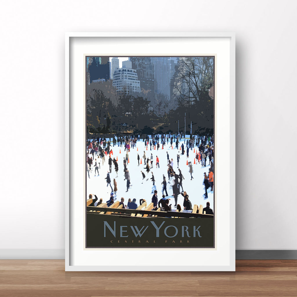 New York print vintage travel style designed by Places We Luv
