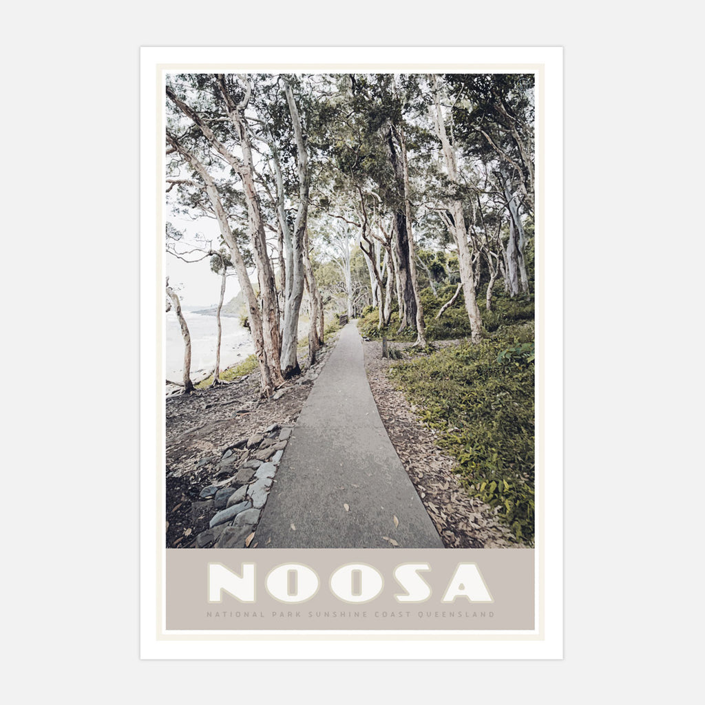 Noosa vintage travel style print by places we luv