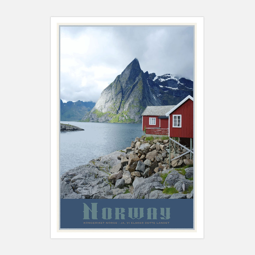 Norway vintage travel style print by places we luv
