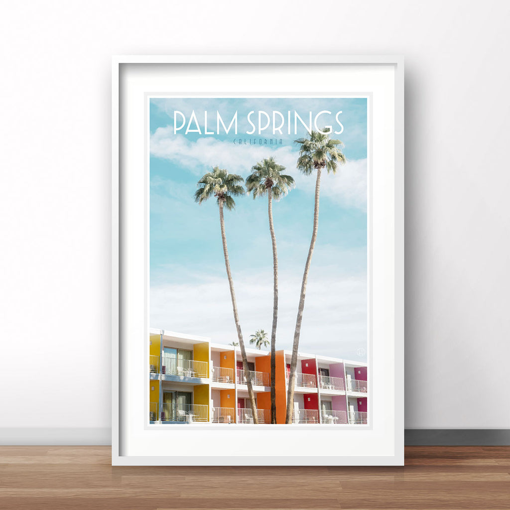 Palm Springs vintage travel style print by places we luv