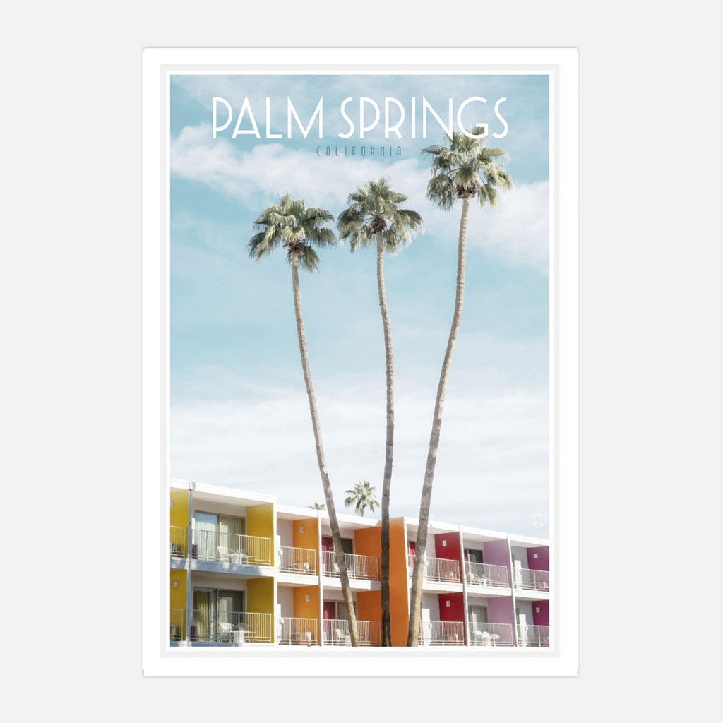 Palm Springs travel print by places we luv