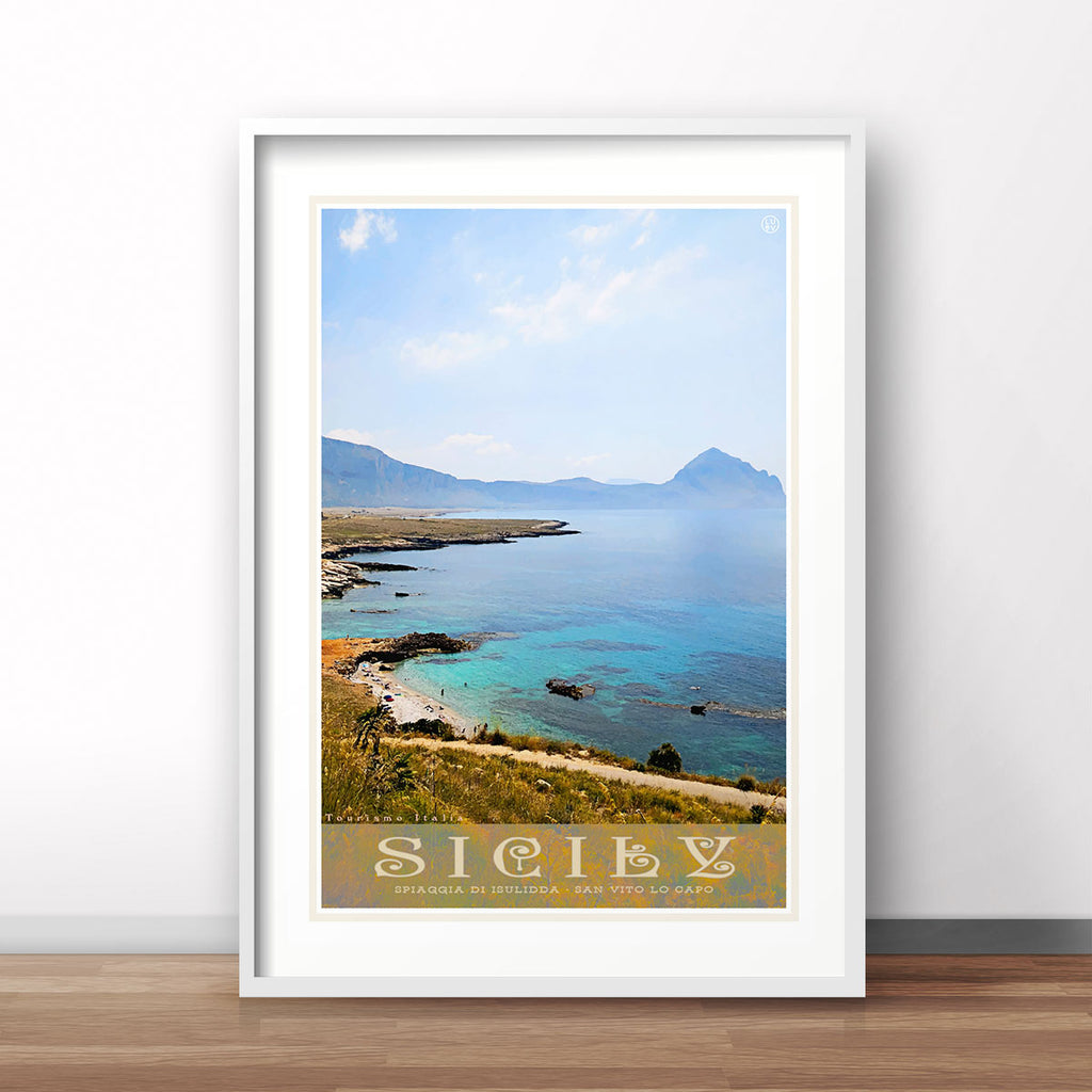 Sicily vintage travel print by Places We Luv