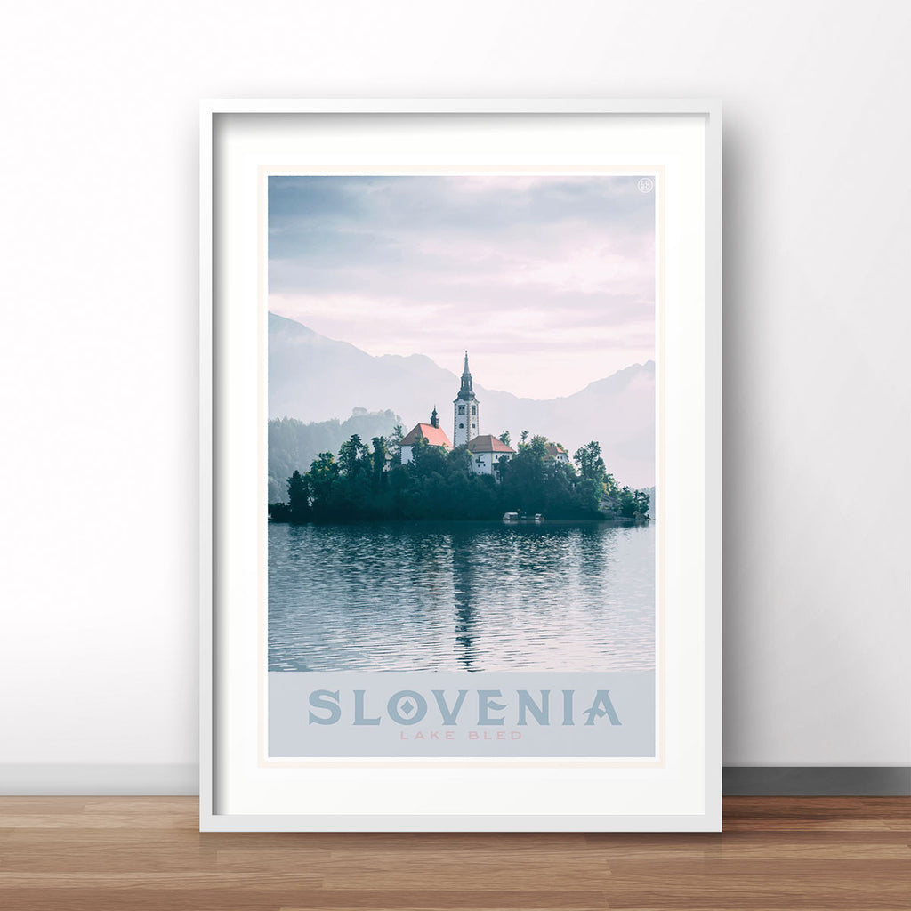 Slovenia Travel Print by places We Luv