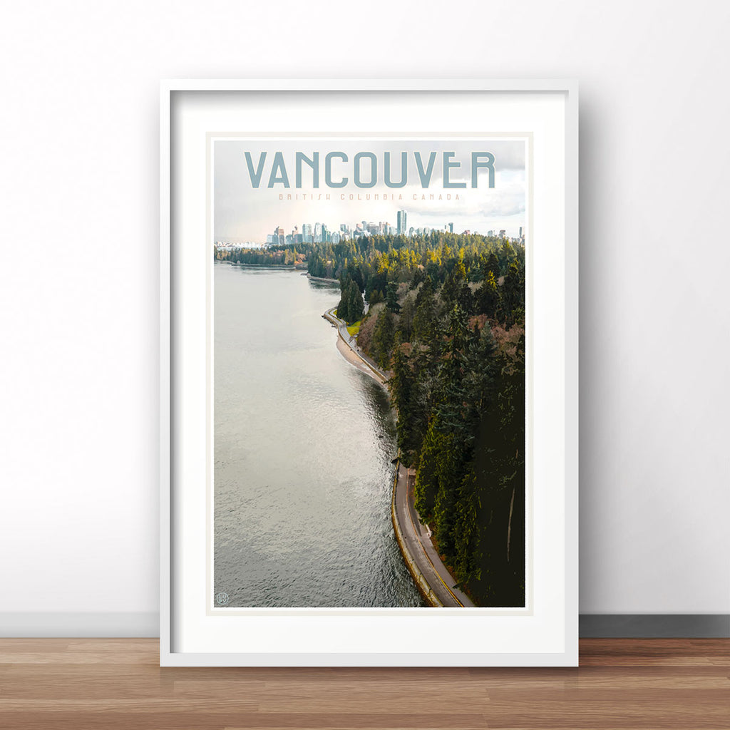 Travel print of Vancouver Canada by placesweluv