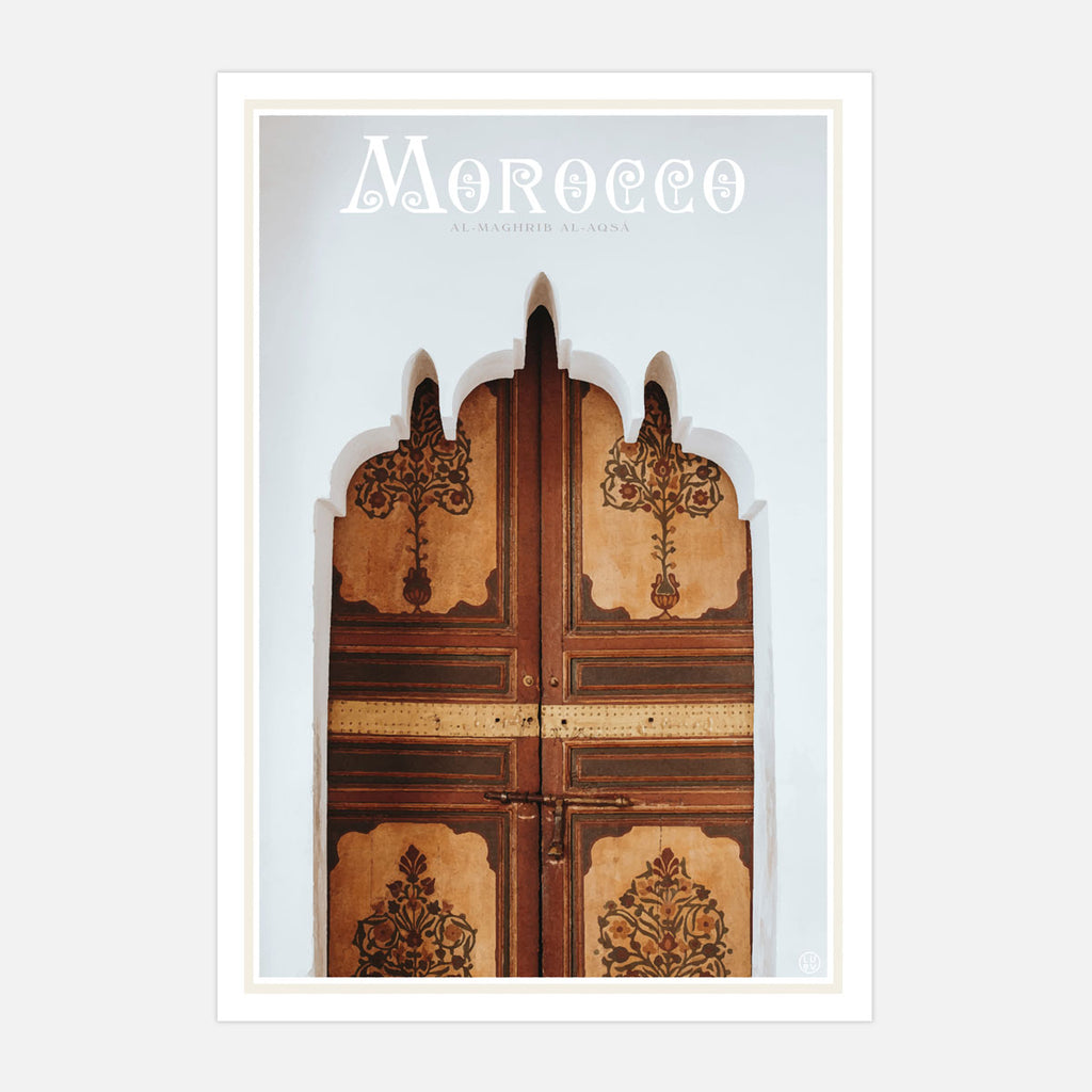 Morocco vintage travel style print by places we luv