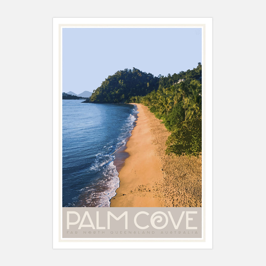 Palm Cove QLD vintage travel print by Places We Luv