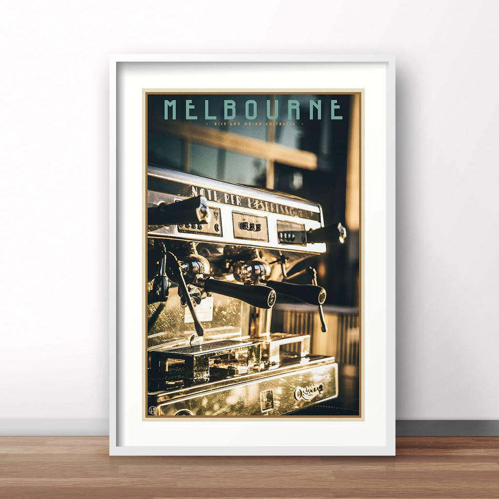 Melbourne Coffee vintage travel style print by places we luv