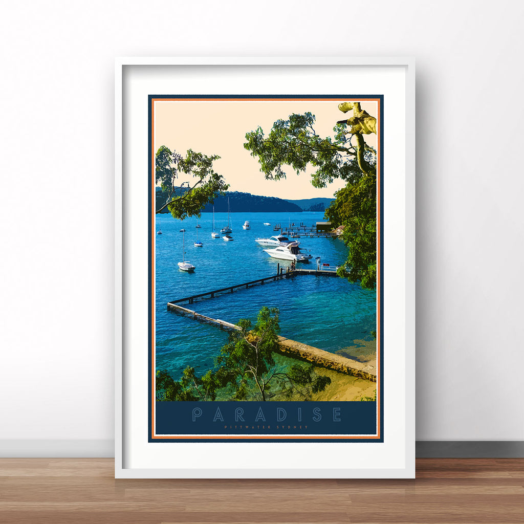 Paradise beach print vintage travel style by Places We Luv