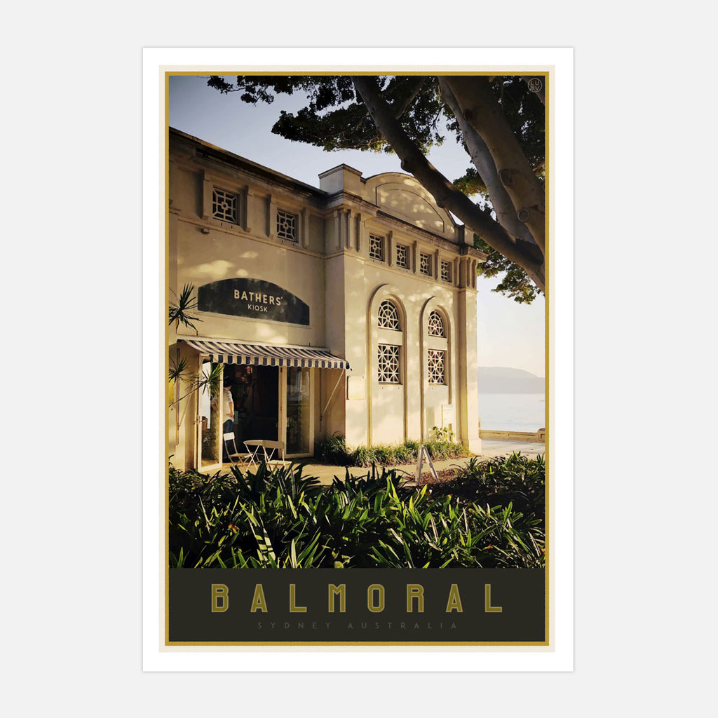 Balmoral Beach poster - Sydney - original design by placesweluv travel style