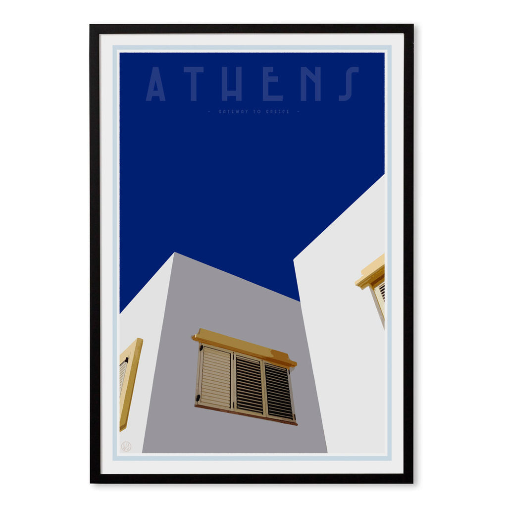 Framed wall art - Athens Print by places we luv