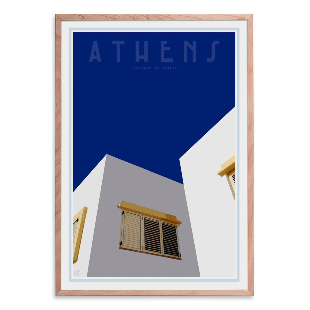 Athens Print by places we luv - framed wall art