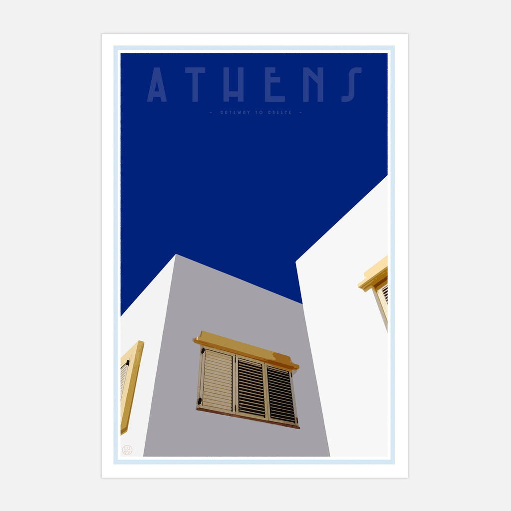 Wall art - Athens Print by places we luv