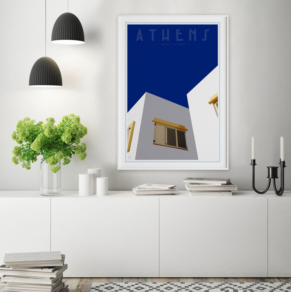 Home decor - Athens Print by places we luv