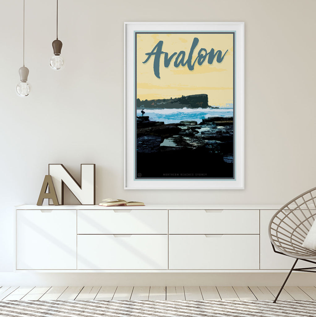 Avalon Beach print by Placesweluv - original design