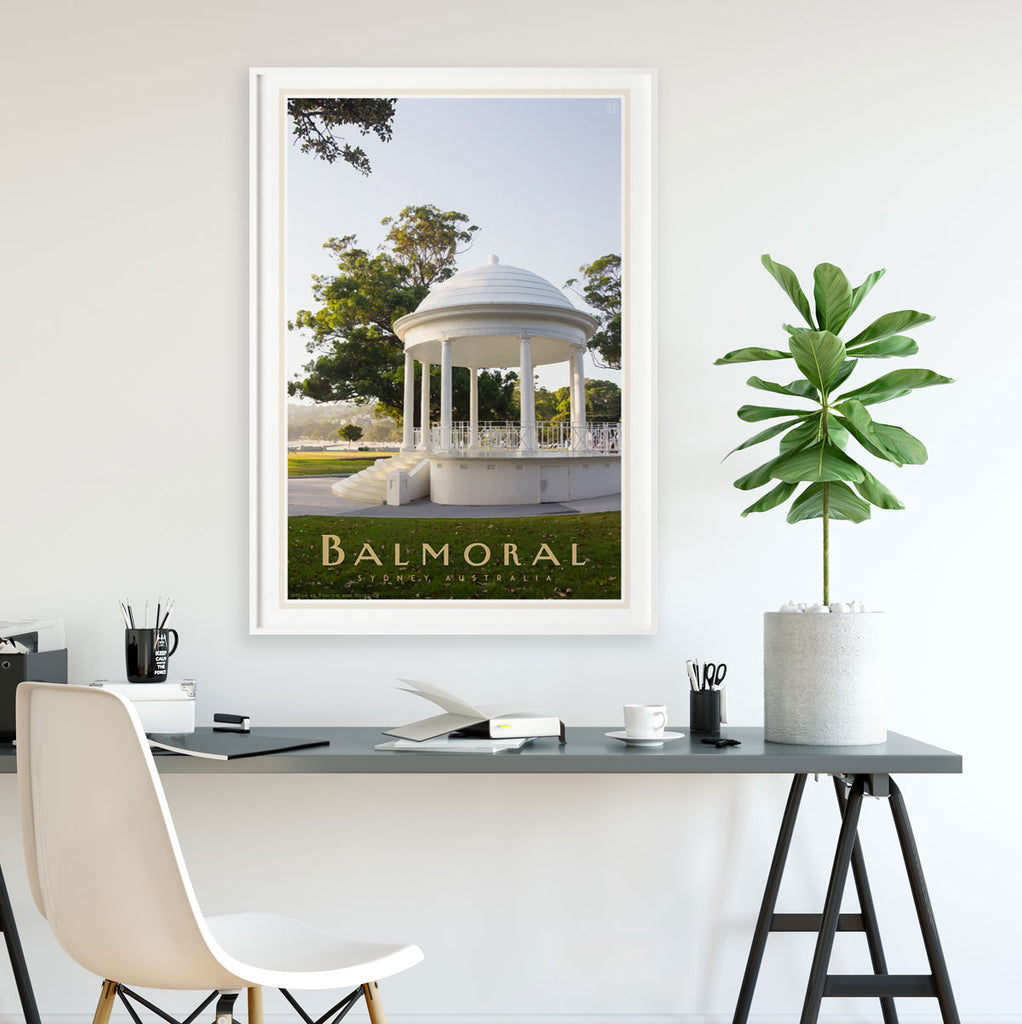 Balmoral Rotunda Print - Sydney - vintage travel style by placesweluv travel style