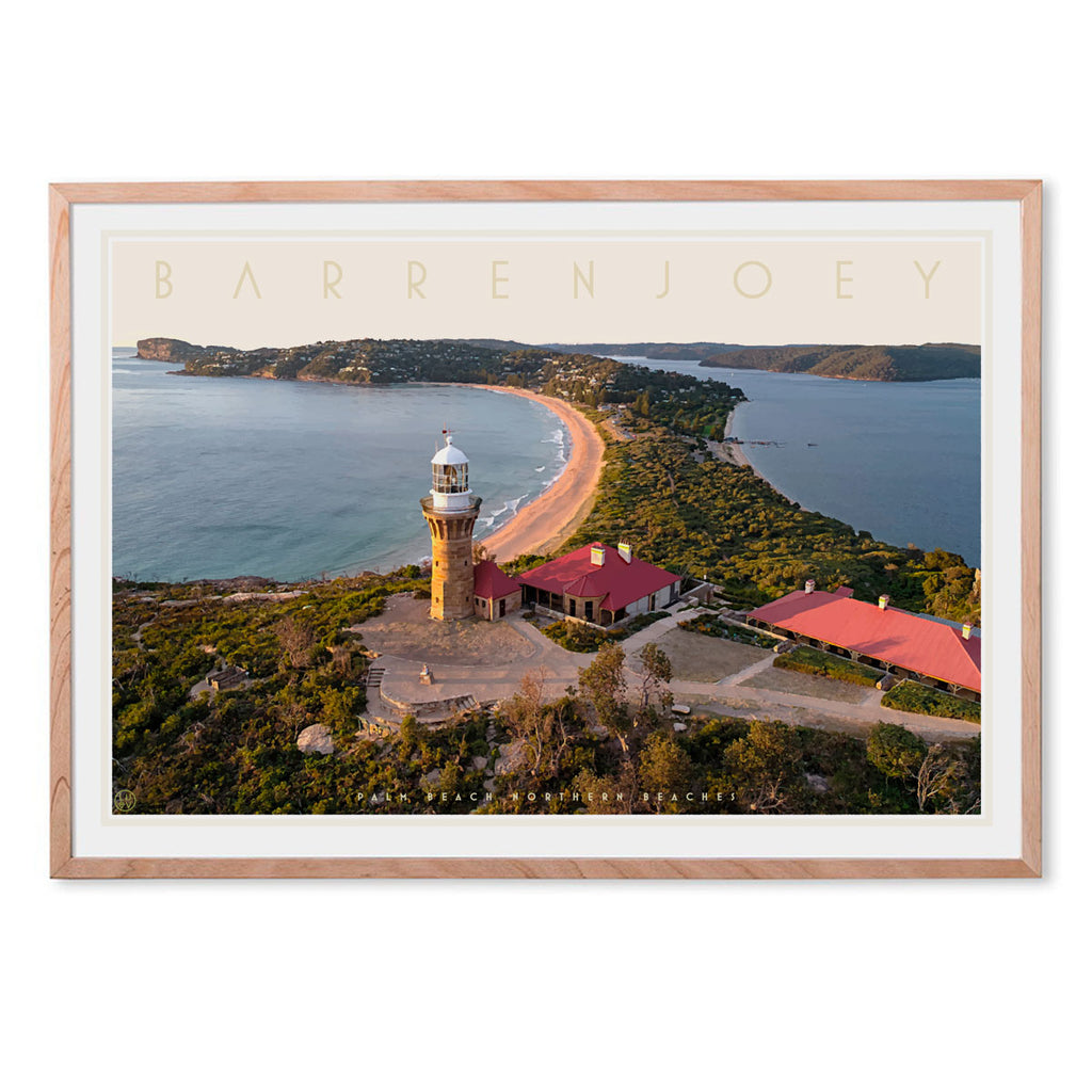 Barrenjoey Palm Beach vintage style travel print by places we luv