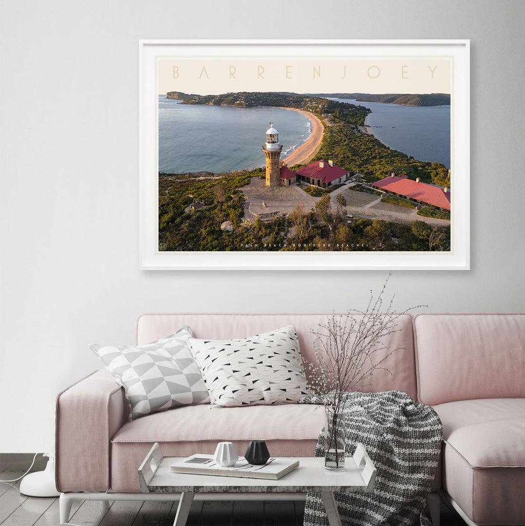 Barrenjoey Palm Beach Sydney travel style poster original design by placesweluv