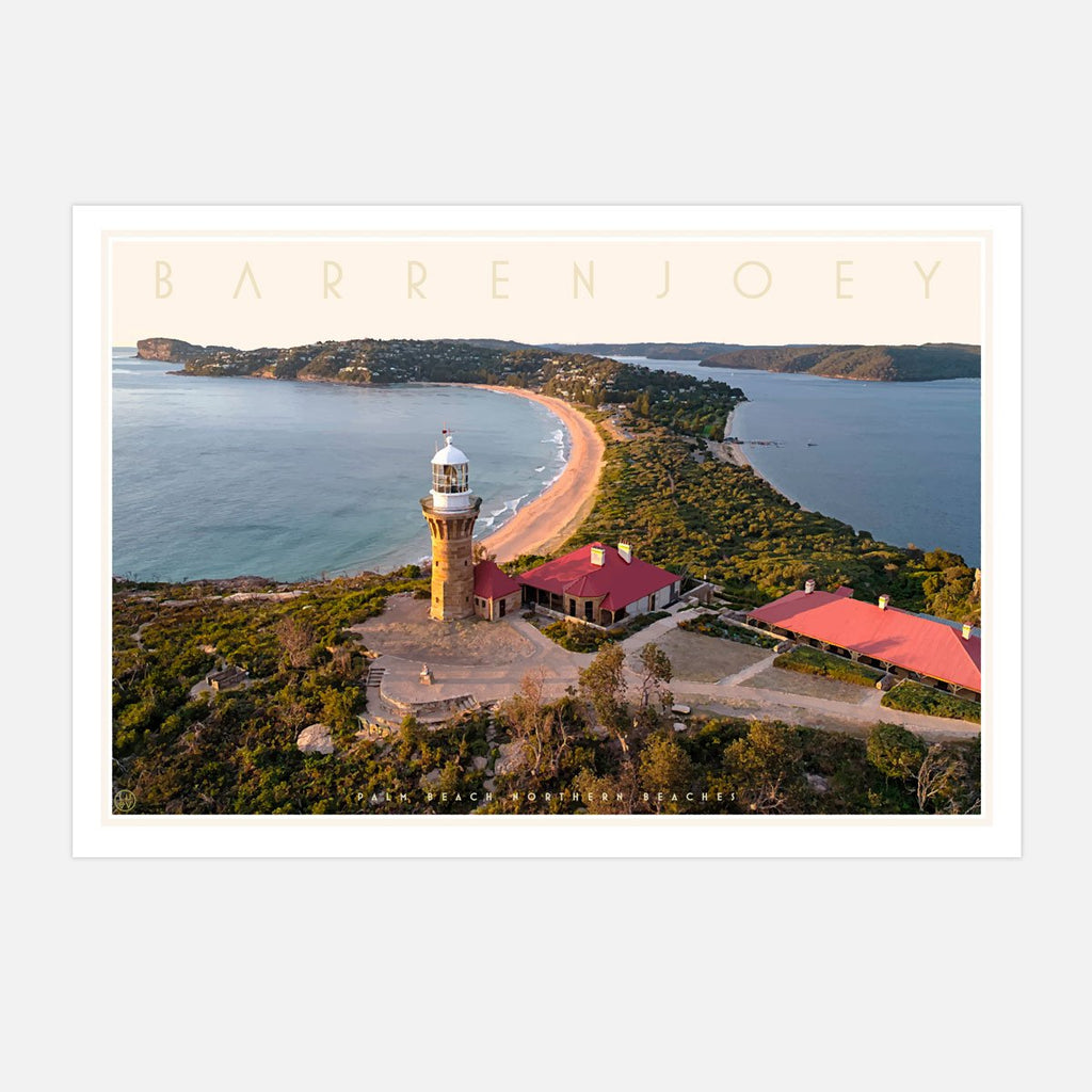 Barrenjoey Sydney travel style poster original design by placesweluv