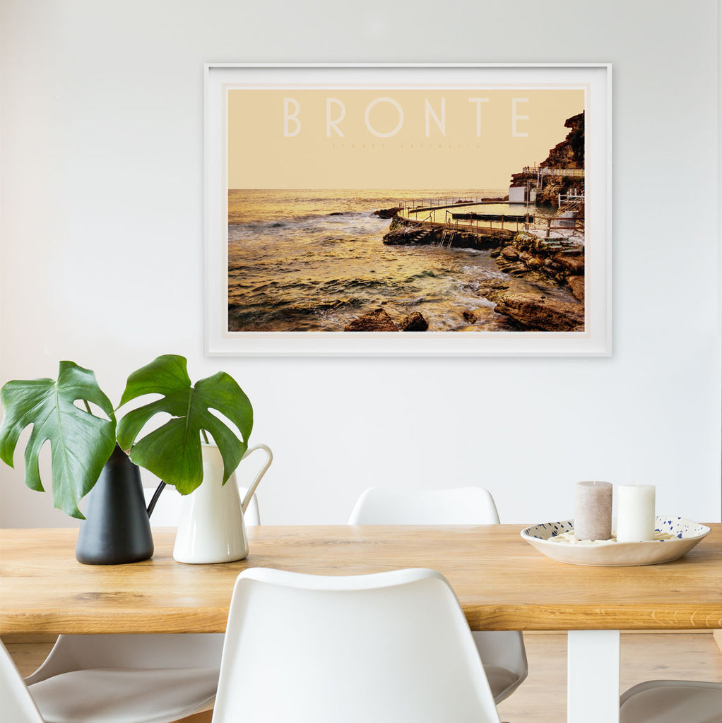 Places we luv - Bronte pool vintage travel style print