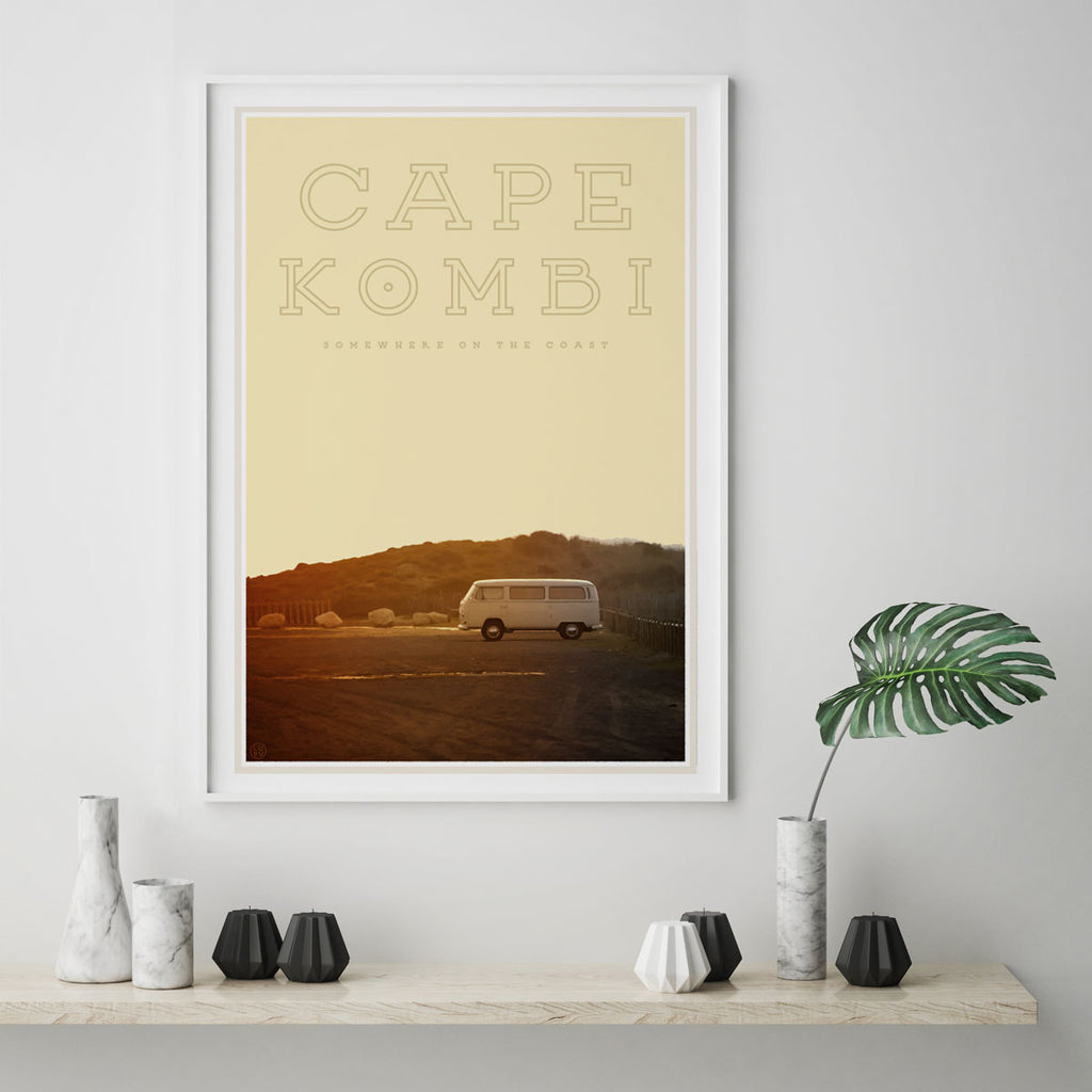 Kombi vintage travel style poster by places we luv sydney