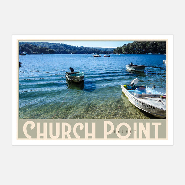 Church Point Tinny wall art by places we luv