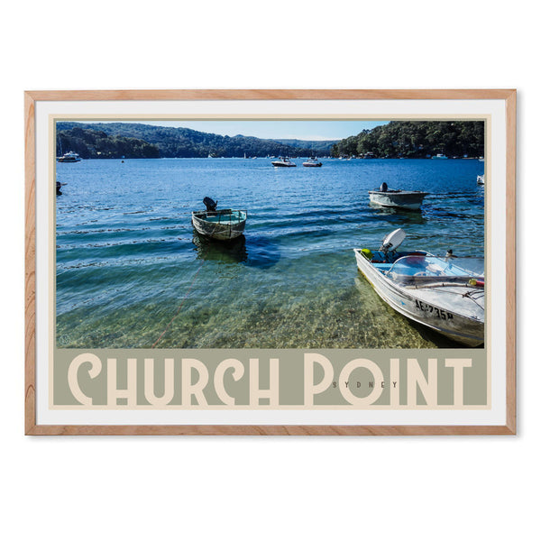 Church Point art print with oak frame by places we luv