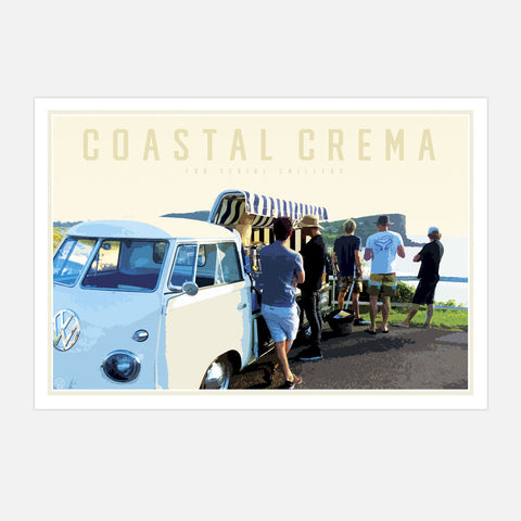 Coastal Crema beaches print  by places we luv