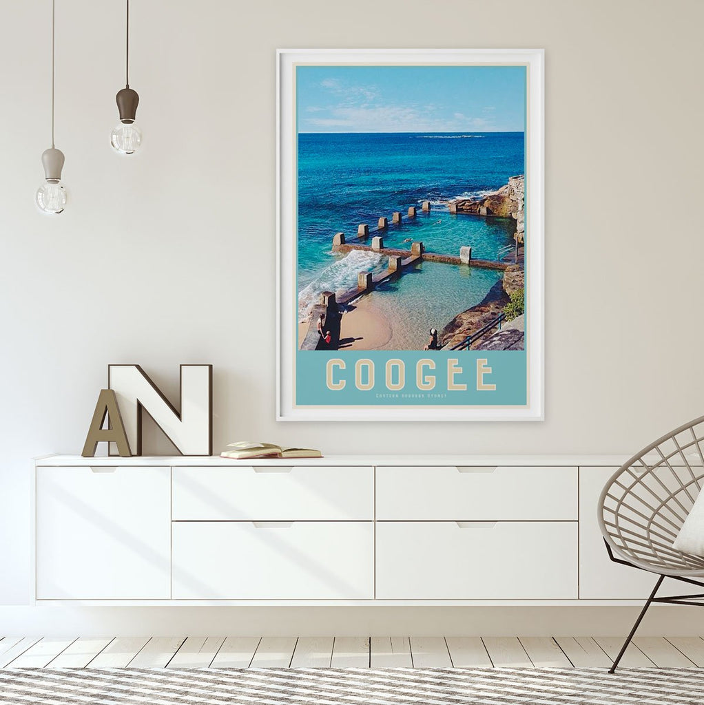 Coogee Ross Jones Pool framed print places we luv