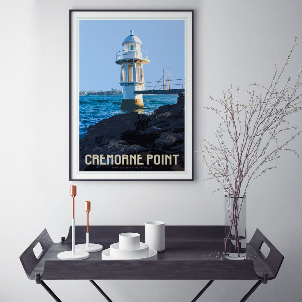 Cremorne point vintage style travel print by Places We Luv