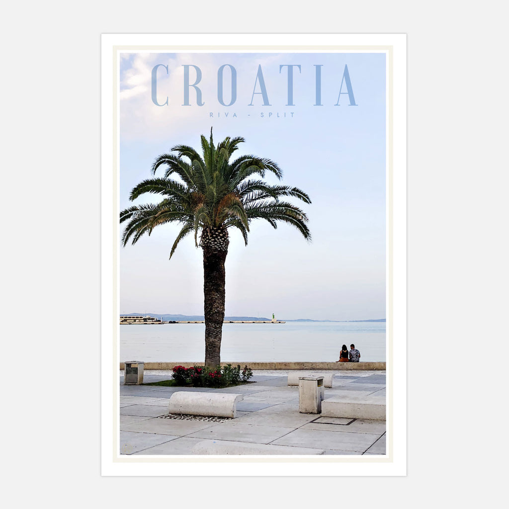 Split Croatia vintage travel style print and poster by places we luv