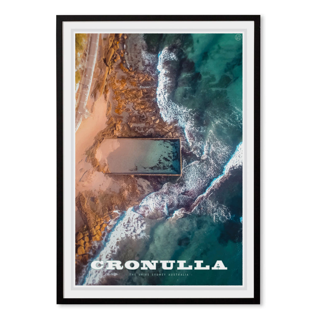 Cronulla Pool black framed print travel style by places we luv