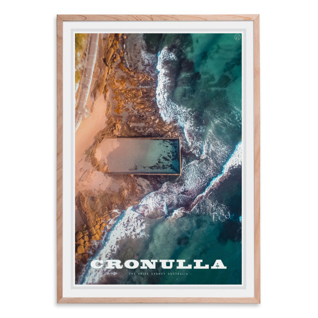 Cronulla oak framed print travel style by places we luv